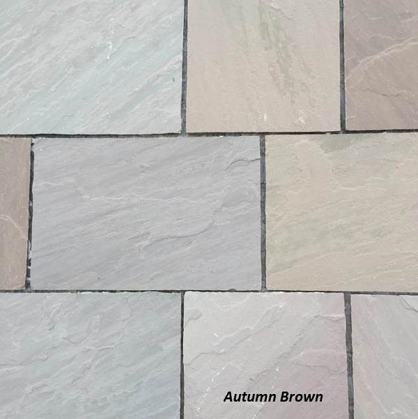 Sandstone paving - Autumn Brown
