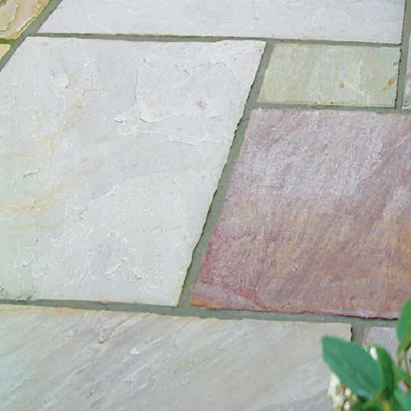 grey/purple sandstone paving