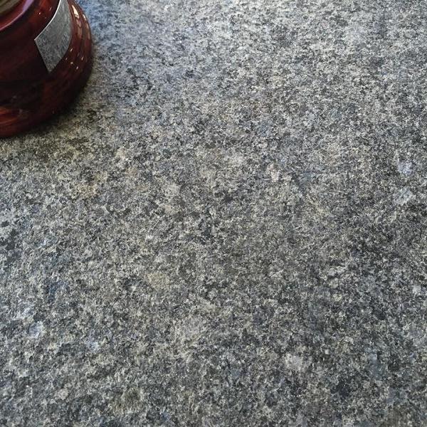 dark grey flamed granite